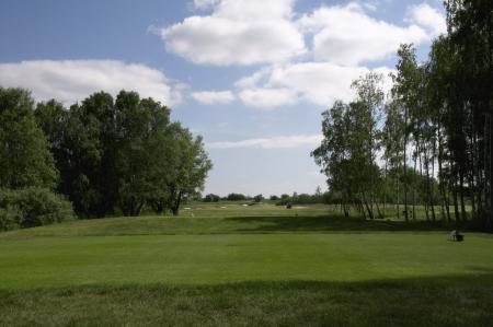 Golf Coursein a summer day Stock Photo