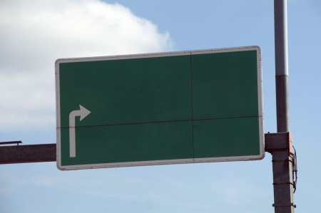Green blank highway sign