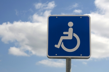 handicaped parking sign Stock Photo