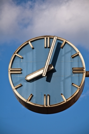 Old-styled big clock Stock Photo