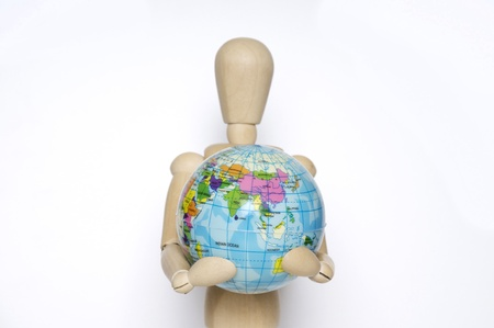 holding the planet safe in her arms