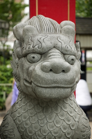 Ancient Chinese statue.