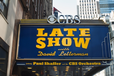 The Ed Sullivan Theatre in NYC, located at 1697-1699 Broadway between West 53rd and West 54th, Manhattan. The Ed Sullivan Show, the first Beatles performance in USA and since 1993 the Late Show with David Letterman are well known shows, that have taken pl Editorial