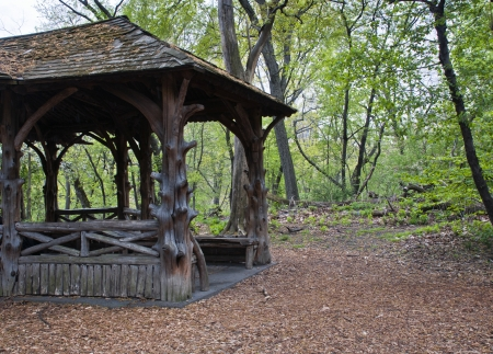 Wooden in hut in Central Park, New York City