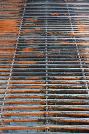 worn grate in industrial building photo