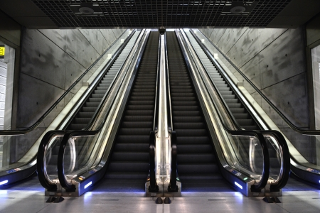 Futuristic and modern Escalator
