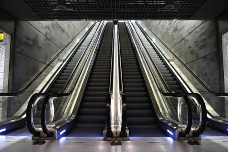Futuristic and modern Escalator