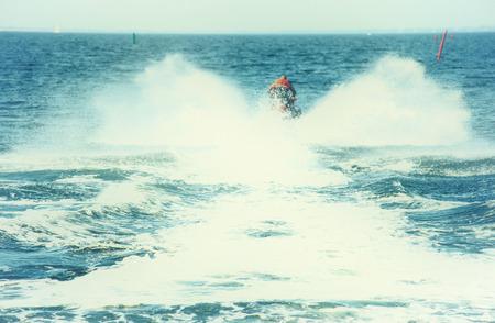 Jet skier on the sea