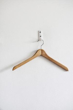coat hanger on a wall