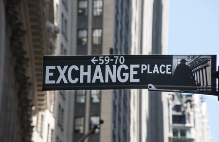 Exchange place sign, New York