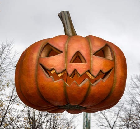 Big halloween pumpkin Stock Photo