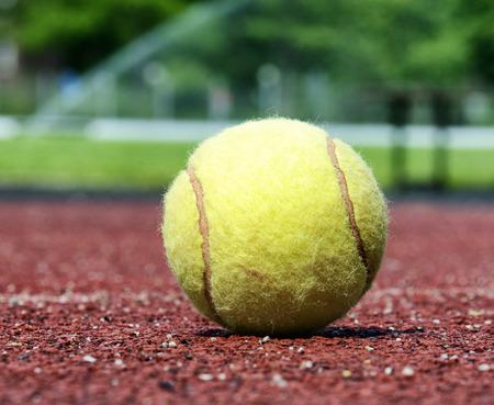 close up of an tennis ball, shallow depth of field
