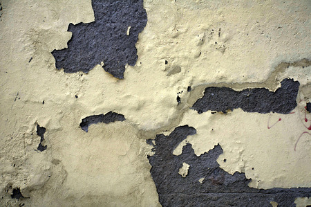wall with cracked paint Stock Photo