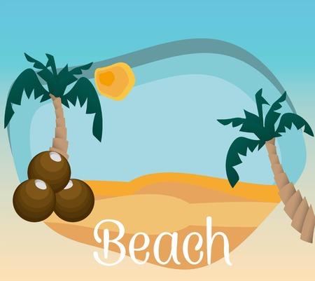 sumer: Summer beach Illustration