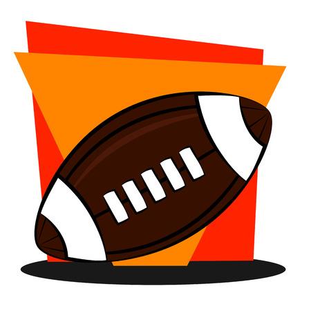dai: american football icon on geometric background Illustration