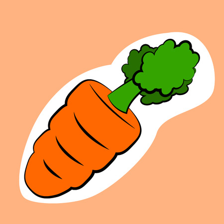 small carrot isolated Çizim