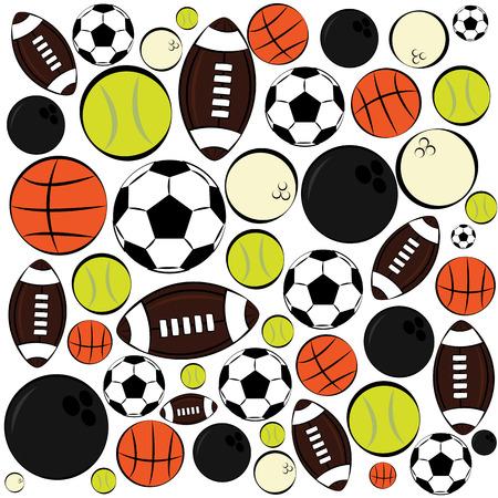 dai: pattern of sport balls Illustration