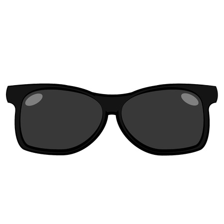 black glasses isolated on white background Illustration