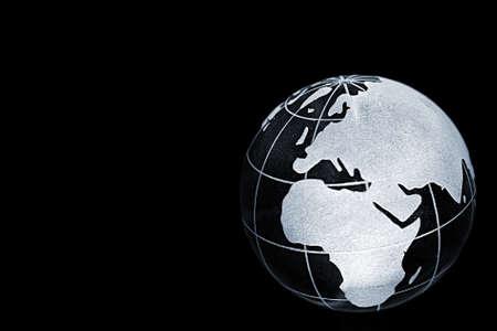 tierra: planeta tierra con marcas de latitud y longitud Stock Photo