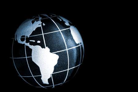 longitude: planet earth with latitude and longitude marks Stock Photo