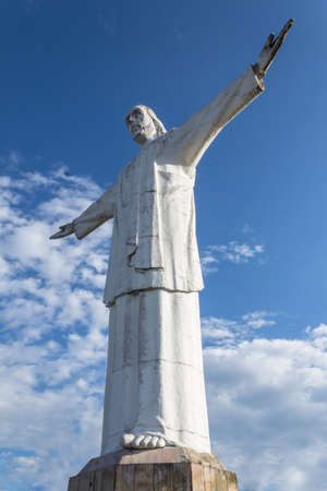 whose: full body statue of jesus in Cali, Colombia whose name is Christ the King Stock Photo