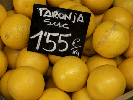 mediterraneo: Oranges in a market  Catalonia Stock Photo