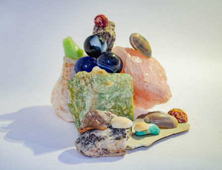 In this collection of photos you will find funky, playful and abstract scenarios with a diversity of sea shells and multi-colored stones.