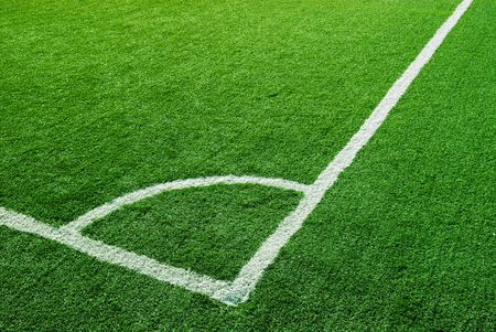 corner kick area in soccer field