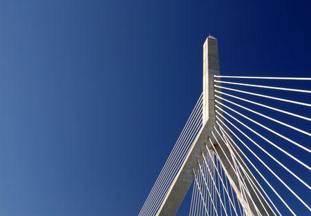 Detail of Bunker Hill Bridge in Boston, Massachusetts.