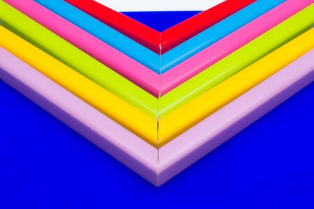 straight and right angles of color material with a wide range of basic colors, pastel shades, yellow, red, green, blue, magenta, pink, basic colors