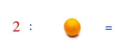 Simple problems of mathematical division with oranges, problems for children studying mathematics; learn to divide with fruits and objects and numbers, oranges and figures and numerical symbols