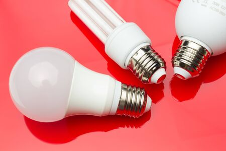 Saving electric energy and paying less in electric energy thanks to energy-saving light bulbs to make a planet more sustainable and ecological. Low consumption in homes and jobs.
