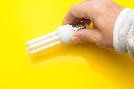 Low consumption, LED bulb, fluorescent, white color, daylight, efficient consumption and money saving; Energy saving light bulb, generates little heat and saves on electricity consumption.