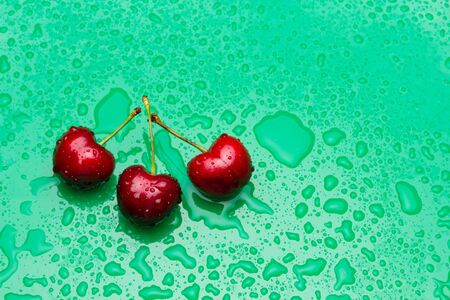 Cherries of cherry red color, almost garnet red, vitamin-rich fruit, eaten raw ideal for desserts of jams, jams, juices. Full of vitamins and very healthy fruit.