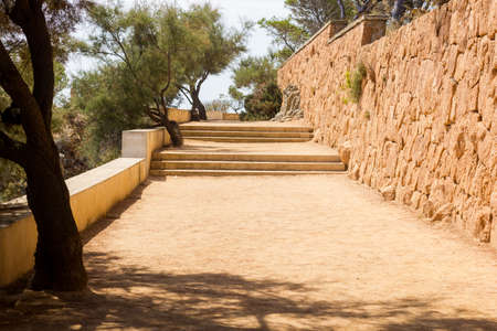 Camino de Ronda, Costa Brava, Catalonia, Spain, is a path that follows the steep Mediterranean coastline of the Catalan coast