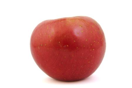 Red Fuji apple on white background photo