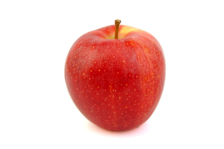 Red Royal Gala apple on white background