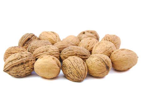 strooigoed: Bunch of nuts on white background