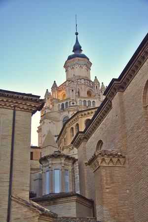 mudejar: Cathedral of Santa Maria de la Huerta, Tarazona, Aragon, Spain, Mudejar cimborio