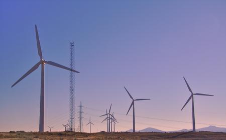 alava: Eolian generators. Wind turbines. Green energy