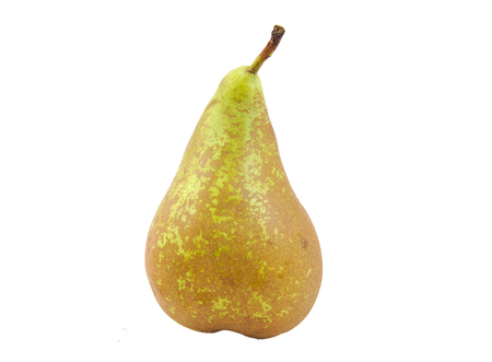 Front view of conference pear  isolated on white Archivio Fotografico