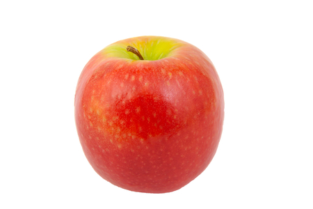 Front view of Red Pink Lady apple isolated on white