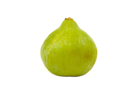 Single ripe fig isolated on white background Foto de archivo