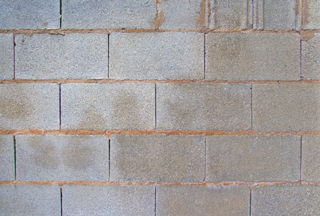 View of grey brick wall. Background image Archivio Fotografico