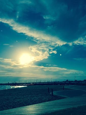 st kilda: St Kilda Beach Stock Photo