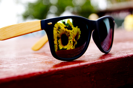 reflect: Reflect sunglases Stock Photo