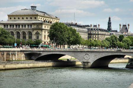 River Seine - Paris Stock Photo
