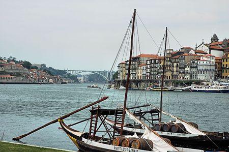 porto: Typical boat at river Douro - Porto - Portugal