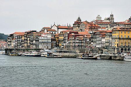 douro: River Douro - Porto - Portugal Stock Photo