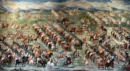 battles: Oil painting